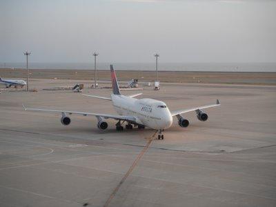 デルタ航空の飛行機
